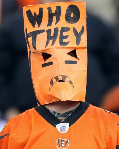 Image result for bengals fan paper bag